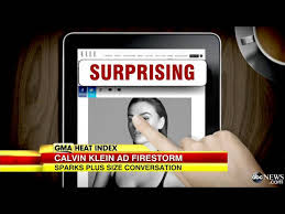 Calvin Klein S Plus Size Model Sparks Controversy - calvin klein criticized for upskirt underwear ad
