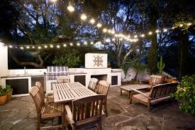 Outdoor Hanging String Lights How To Hang Outdoor String Lights Backyard All Home Design Ideas