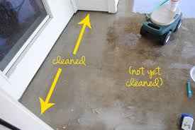 How Thick For Concrete Patio I Should Be Mopping The Floor Diy Miracle Concrete Patio Cleaner