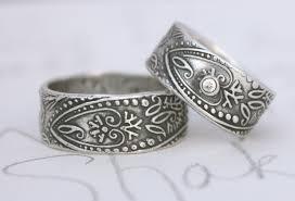 boho wedding ring silver wedding rings for men and women bohemian wedding band ring