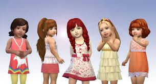 childs hairstyles sims 4 my stuff toddlers hair pack 6