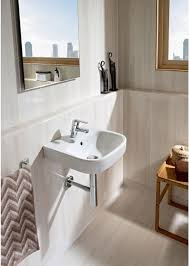 roca debba 450 x 370mm wall hung basin with 1 tap hole