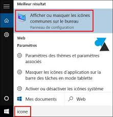 windows 7 icone bureau disparu windows 10 remettre l icône de la corbeille sur le bureau
