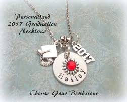 graduation jewelry gift personalized 2017 graduation gift handsted graduation necklace