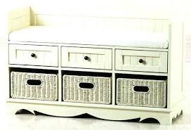 bench with storage baskets uk hall tree bench with basket storage