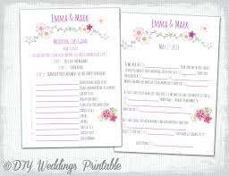 wedding mad libs template mad libs wedding cards meichu2017 me