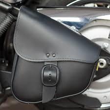 matte black willie u0026 max black leather swingarm bag with matte black buckle