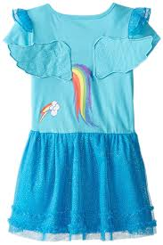 my pony dress with ruffles and wings