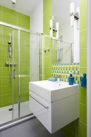 Light Green Bathroom Ideas Light Green Bathroom Tiles With Glass Shower Enclosure Idea
