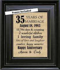 35th anniversary gift framed personalized 35th anniversary gift 35th anniversary