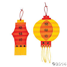chinese new year paper lantern craft kit 12 pk party supplies