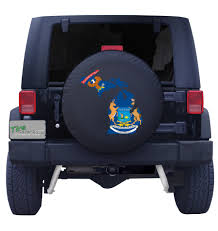 Michigans State Flag State Of Michigan Tire Cover