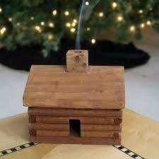 log cabin incense burner the green