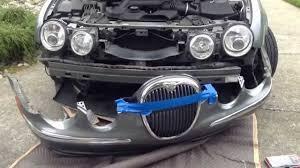 jaguar s type headlight repair hid replacement youtube