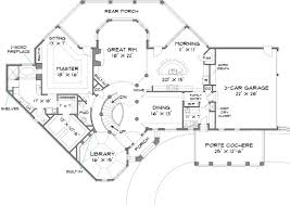 House Plans With Three Car Garage Colonial House Plan With 4 Bedrooms And 3 5 Baths Plan 6001