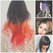 hairstyles short on top long on bottom two tone hair color for black ombre light on top dark bottom medium