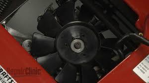 craftsman riding mower transmission fan blade 584282001 youtube