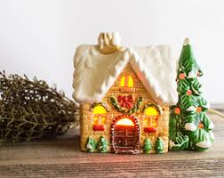 German Christmas Village Decorations by Christmas Village Etsy