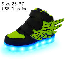 light up shoes size 4 kriativ kids light up shoes with wing led slippers do with light up
