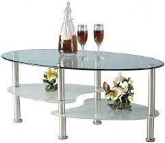 Cara Coffee Table Clear Glass Coffee Table