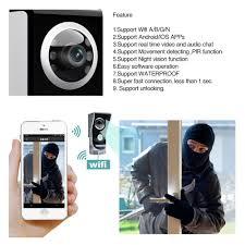 docooler wifi enable video doorbell phone wireless digital smart