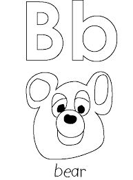 bear alphabet coloring pages alphabet coloring pages of