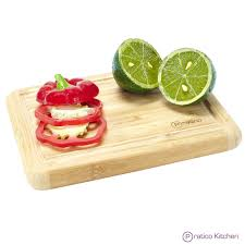 Cutting Board With Trays by Bamboo Cutting Board With Juice Groove Small