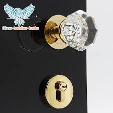 glass crystal door knobs door knobs and handles luxury crystal door knob set with lock gold
