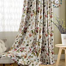 amazon com flower curtain blackout bedroom drapes anady top 2