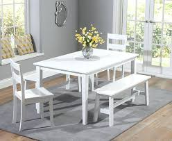 Tiffany Bench Dining Table White Oak Dining Table With Bench Furniture Land