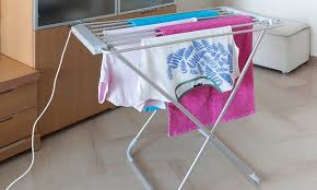 Electric Clothes Dryer Rack 66 Off Heated Folding Clothes Airer Groupon
