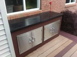 Building Outdoor Kitchen With Metal Studs - outdoor kitchen with concrete countertops 8 steps with pictures
