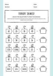 math worksheet templates canva