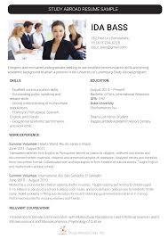 Resume Writing Communication Skills by Our Study Abroad Resume Writing Assistance Study Abroad Essay