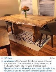 spalted maple dining table jewell hardwoods jewell hardwoods