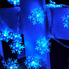 7 colors 3m 30 leds battery operated snowflake icicle led festival