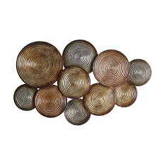 Copper Wall Decor by Elements Embossed Circles Metal Wall Decor Odessa Pinterest