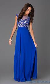 cap sleeve dresses floor length cap sleeve dress with illusion bodice