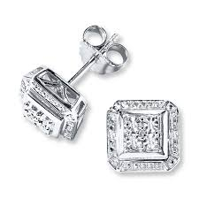 stud earings diamond stud earrings sterling silver