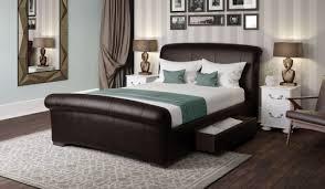 Harveys Bed Frames Santino Brown Faux Leather Bed Frame Bensons For Beds Harveys Bed