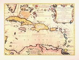 carribbean map amazon com historical indies map 1688 antique map wall