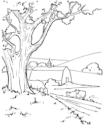 Farm Barn And Cows Coloring Pages Colouring Adult Detailed Farm Color Page