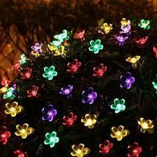 solar christmas light projector 7m 50led outdoor solar string light ip65 waterproof garden path yard