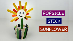 popsicle stick flower diy how to crafts ideas for kids youtube