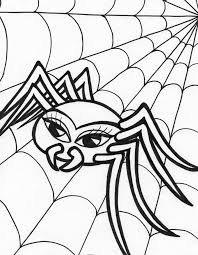 halloween pumpkin and spider coloring pages hallowen coloring