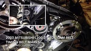 mitsubishi l200 2 5 tdi timing belt cam belt youtube