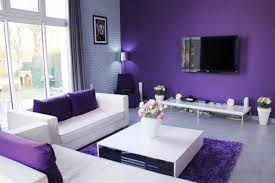 Purple Living Room by Interior Modern Bedroom Design Using White And Black Bed Plus