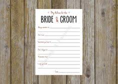 Wedding Wishes And Advice Cards Hey I Found This Really Awesome Etsy Listing At Https Www Etsy