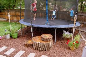 backyard trampoline workout home outdoor decoration