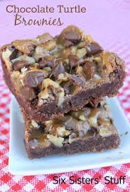 chocolate turtle brownies recipe turtle brownies brownies and